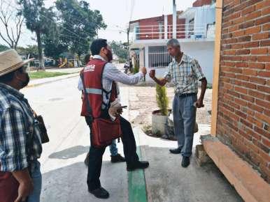 Colonias Aguacatal y Arenales de Coatepec reciben a Rigoberto Amezcua Mora