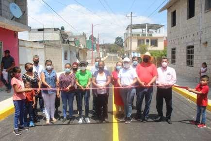 Baldinucci Tejeda Colorado, inaugura la obra de construcción de pavimentación