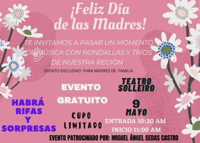 Miguel Ángel Sedas Castro, brindara homenaje a mamás Huatusqueñas