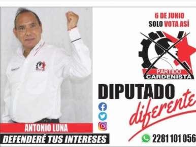 El liderazgo de Antonio Luna se pone de manifiesto en este proceso electoral