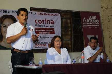 """Coalición \""""Juntos haremos historia\"""" se fortalece con la unión de sus tres candidatos en Río Blanco"""