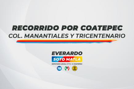 Refuerza  Everardo Soto su presencia en Colonias de Coatepec