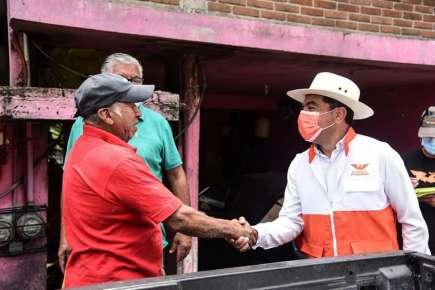 Recibe apoyo Andrés Cuevas Melo de los vecinos de Paso Ancho y San Miguel de Coatepec
