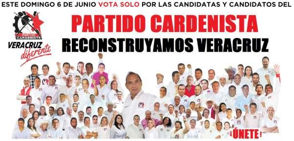El próximo 6 de junio vota por el ejército cardenista veracruzano.