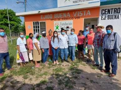 Ya Funciona la Casa de Salud en el Ejido Buena Vista en Pánuco