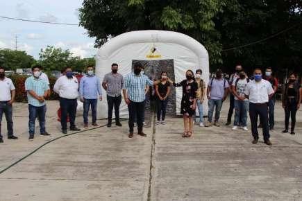 Importante donación de Túnel Sanitizante recibe el TecNM Campus Pánuco