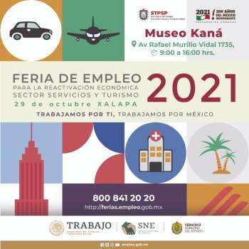 Impulsa Veracruz reactivación económica mediante Feria Nacional de Empleo, en Xalapa